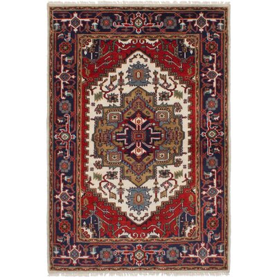 One-of-a-Kind Holcombe Hand-Woven Wool Cream Area Rug