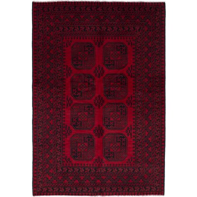 One-of-a-Kind Oliveri Hand-Woven Wool Red Area Rug