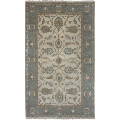 One-of-a-Kind Olney Hand-Woven Wool Cream Area Rug