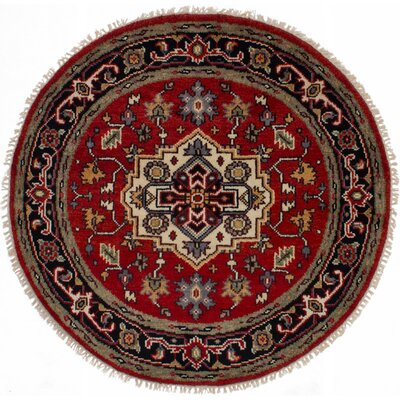 One-of-a-Kind Holcombe Hand-Woven Wool Red Area Rug