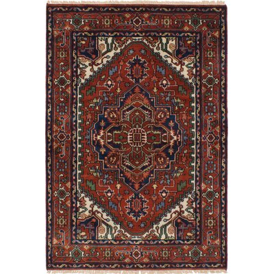 One-of-a-Kind Holcombe Hand-Woven Wool Dark Copper Area Rug