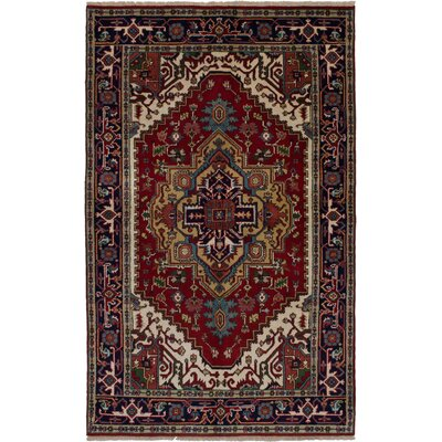 One-of-a-Kind Holcombe Hand-Woven Wool Red Area Rug Rug Size: Rectangle 411 x 82
