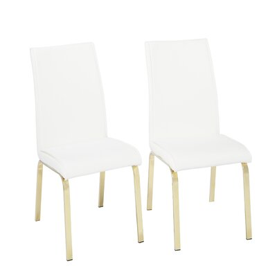 Leia Upholstered Dining Chair Upholstery Color: White