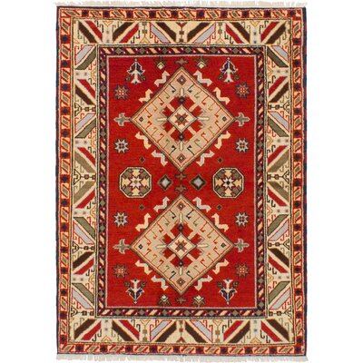 One-of-a-Kind Olden Hand-Woven Wool Red Area Rug