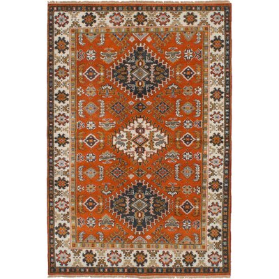 One-of-a-Kind Olden Hand-Woven Wool Dark Copper Area Rug