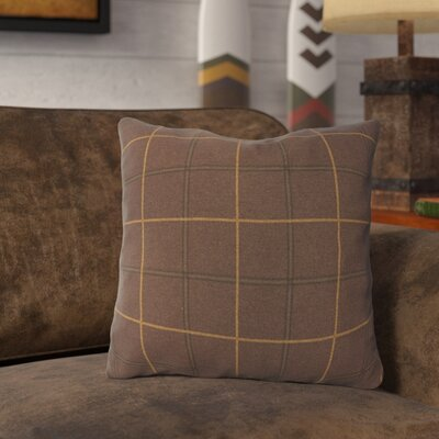 Lubbers Throw Pillow Color: Chocolate Brown, Size: 20 x 20, Fill Material: Polyester