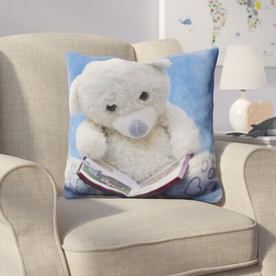 Hicks Teddy Bear Reading a Book Throw Pillow