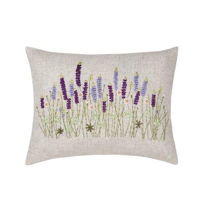 Gutirrez Lavender Ribbon Art Lumbar Pillow