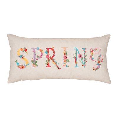 Guyer Spring Flowers Cotton Lumbar Pillow