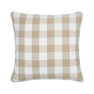 Rinehart Check Cotton Throw Pillow Color: Sandstone