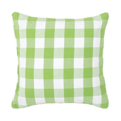 Rinehart Check Cotton Throw Pillow Color: Sprout