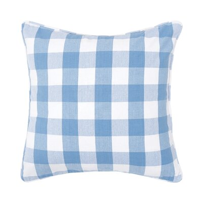 Rinehart Check Cotton Throw Pillow Color: Cornflower