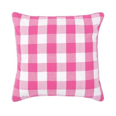 Rinehart Check Cotton Throw Pillow Color: Fuchsia