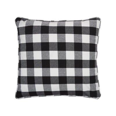 Rinehart Check Cotton Throw Pillow Color: Black