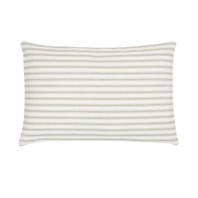 Jarrell Stripe Cotton Lumbar Pillow Color: Sandstone