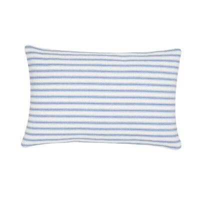 Jarrell Stripe Cotton Lumbar Pillow Color: Cornflower