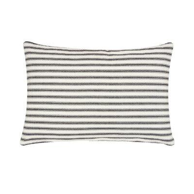 Jarrell Stripe Cotton Lumbar Pillow Color: Black