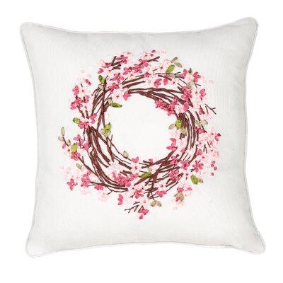 Gutshall Blossom Wreath Ribbon Art Throw Pillow