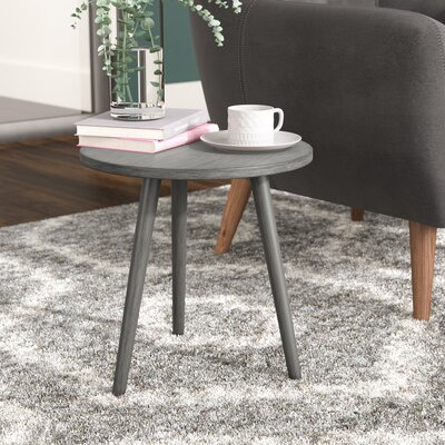 Beem Round End Table Color: Slate Gray