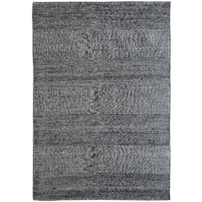Hammes Casa Hand-Woven Black/White Area Rug Rug Size: Rectangle 8 x 10