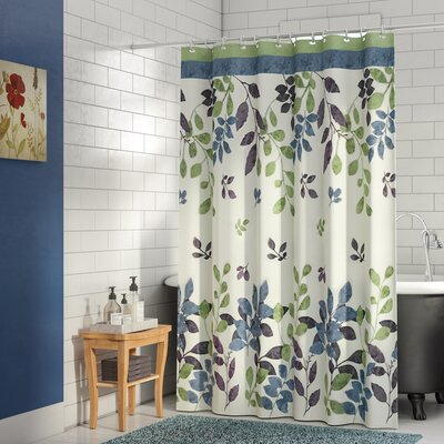 Winamac Shower Curtain Color: Bloom Green