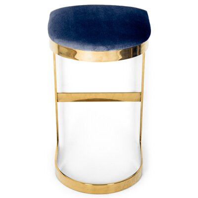 Ibiza 27 Bar Stool Upholstery: Indigo Blue