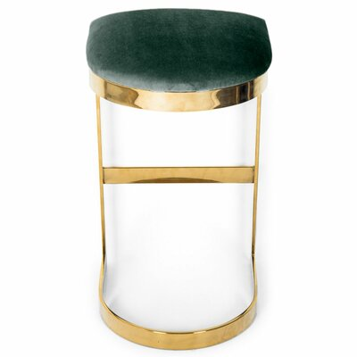 Ibiza 27 Bar Stool Upholstery: Hunter Green
