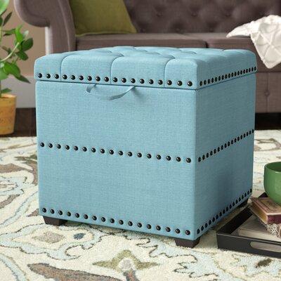 Audane Storage Ottoman Upholstery: Blue