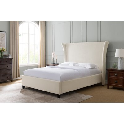 Shamika Upholstered Panel Bed Size: Queen, Color: White