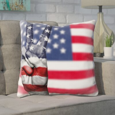 Guercio US Flag Throw Pillow