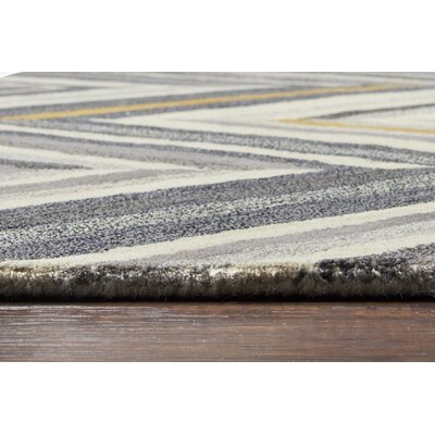 Manwaring Hand-Tufted Wool Gray Area Rug Rug Size: Rectangle 8 x 10