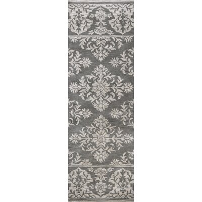 Hulme Hand-Tufted Wool Gray Area Rug Rug Size: Runner 26 x 8