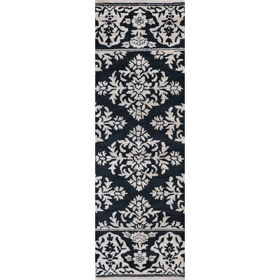 Hulme Hand-Tufted Wool Navy Area Rug Rug Size: Runner 26 x 8