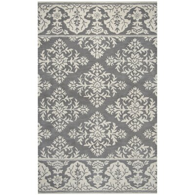 Hulme Hand-Tufted Wool Gray Area Rug Rug Size: Rectangle 5 x 8
