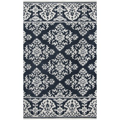 Hulme Hand-Tufted Wool Navy Area Rug Rug Size: Rectangle 5 x 8