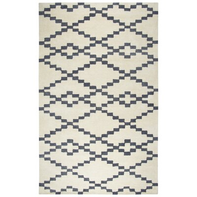 Manwaring Hand-Tufted Wool Ivory Area Rug Rug Size: Rectangle 5 x 8
