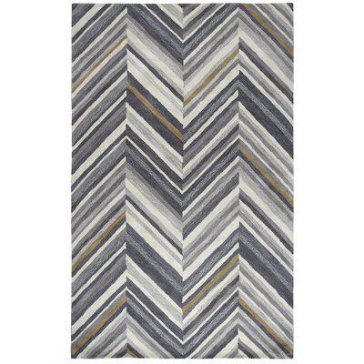 Manwaring Hand-Tufted Wool Gray Area Rug Rug Size: Rectangle 5 x 8