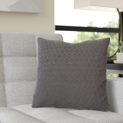 Rolen Throw Pillow Color: Pewter Gray, Size: 16 x 16, Fill Material: Polyester