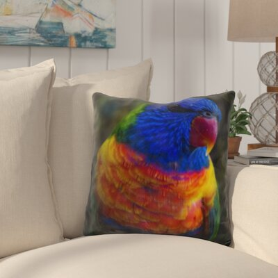 Pratincole Colorful Parrot Throw Pillow