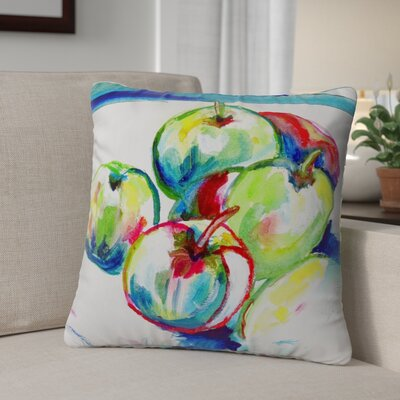 Isola Green Apples Indoor/Outdoor Throw Pillow