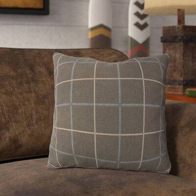 Lubbers Throw Pillow Color: Slate Gray, Size: 16 x 16, Fill Material: Polyester