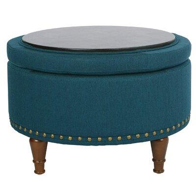 Hogsett Ottoman Upholstery: Azure
