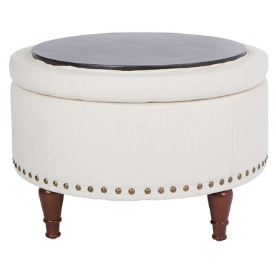 Hogsett Ottoman Upholstery: Linen