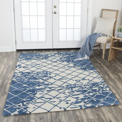 Lovelace Hand-Woven Wool Denim Area Rug Rug Size: Rectangle 10 x 13