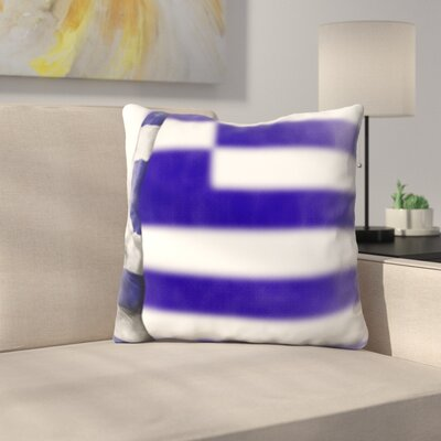 Berns Greece Flag Throw Pillow