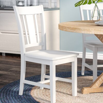 Doug Solid Wood Dining Chair Color: Hand Rubbed Beach White
