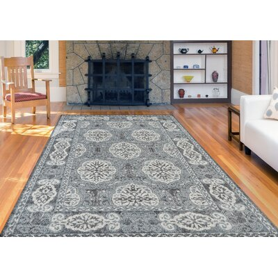 Honig Transitional Steel Blue Area Rug Rug Size: Round 67 x 67