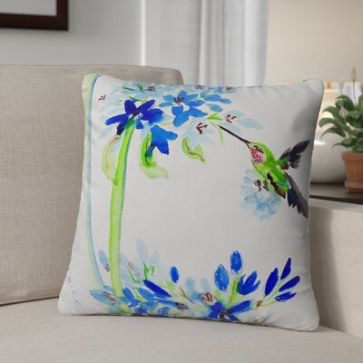 Isola Blue Egret Indoor/Outdoor Throw Pillow