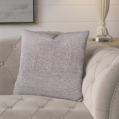Mccarty Throw Pillow Color: Graphite, Size: 24 x 24