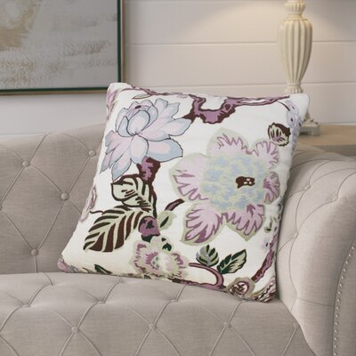 Frazer Garden Floral Linen Throw Pillow